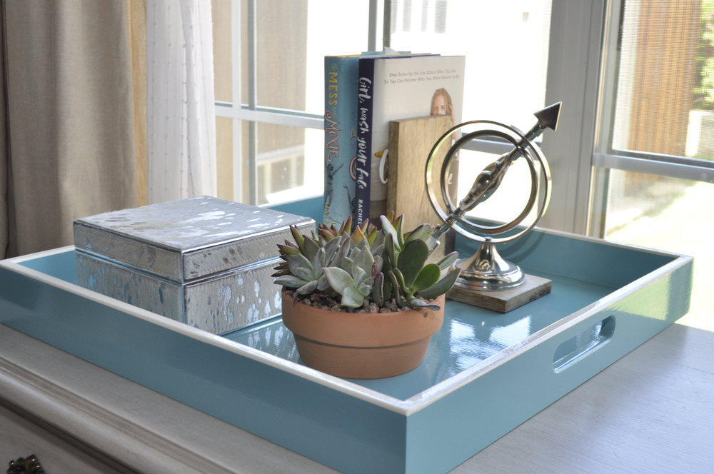 Turquoise with Cream Trim