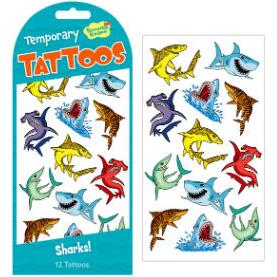 Sharks! Temporary Tattoos