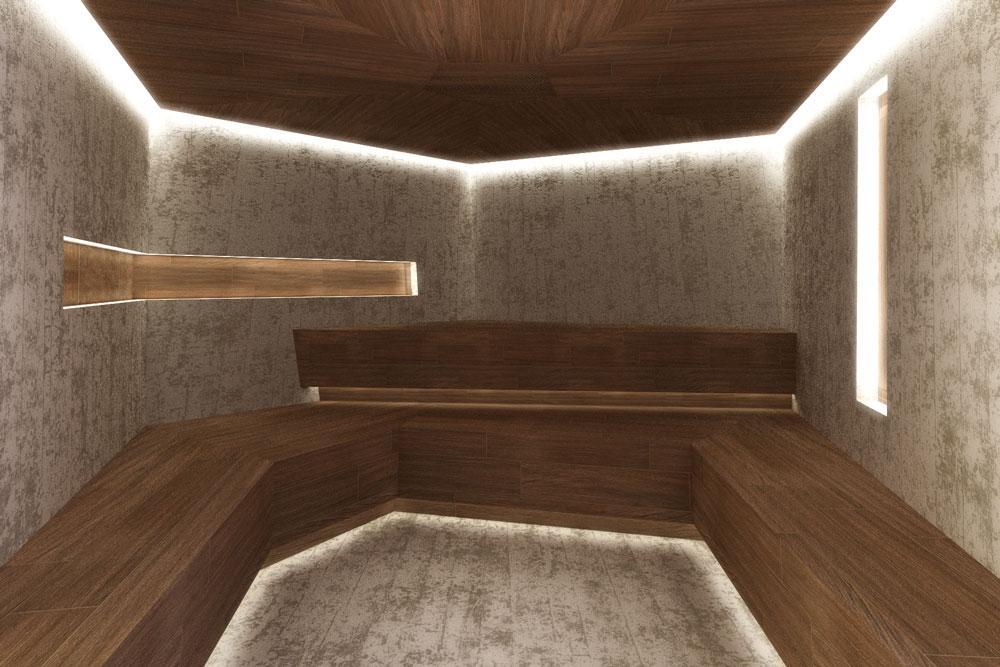 Bagno turco a pianta irregolare //Prefab Modular EPS Turkish Bath