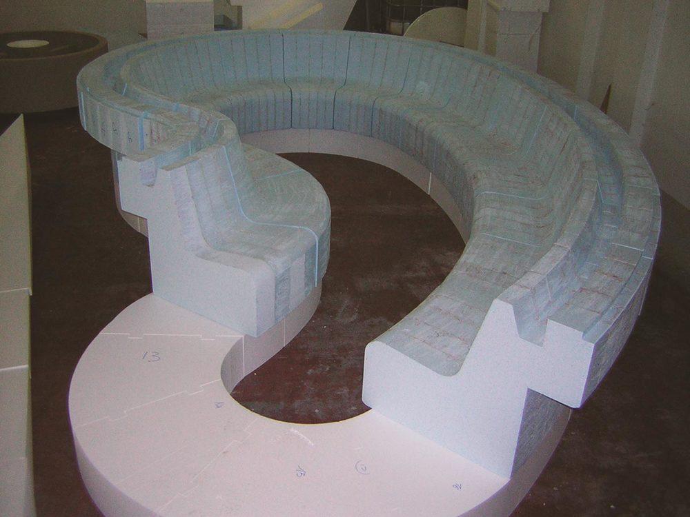 Lavorazione piscina in EPS-polistirolo
