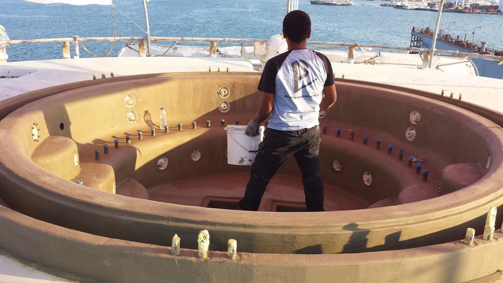 Vasca in EPS polistirene espanso montata ed impermeabilizzata