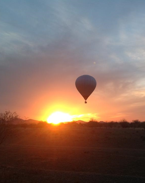 A beautiful dawn patrol balloon ride in the Phoenix desert. One of the best ways to experience a sunrise.