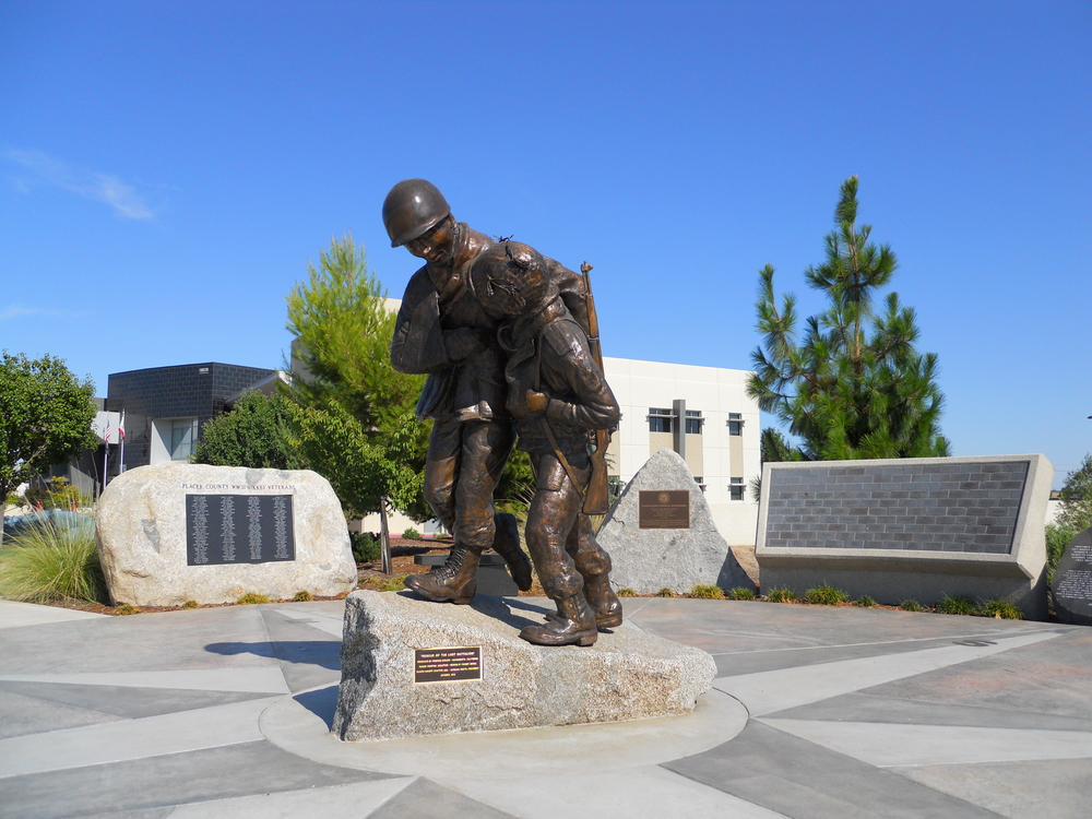 "Inscription on the base of this statue:  ""Rescue of the Lost Battalion"" Produced by Frostad Atelier, Sacramento, California. Ronnie Frostad, Sculptor. Design by France Borka. Placer County JACL; Barbara Oseto, President. October 2012."
