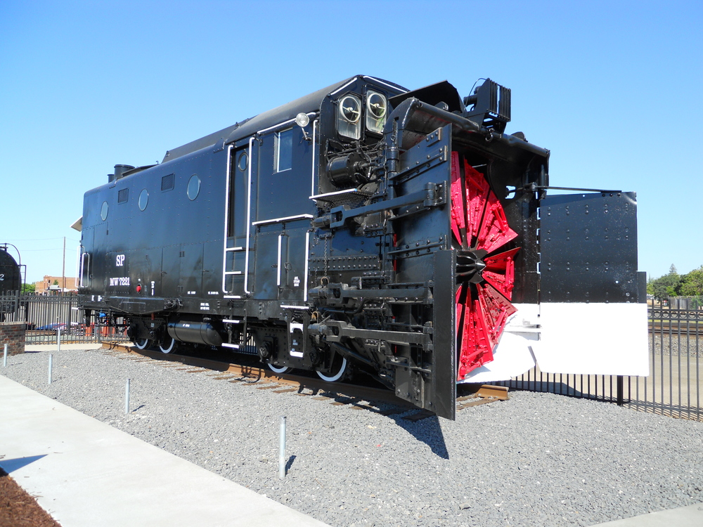 This restored snowplow was recently added to the Engine No. 2252 monument site.