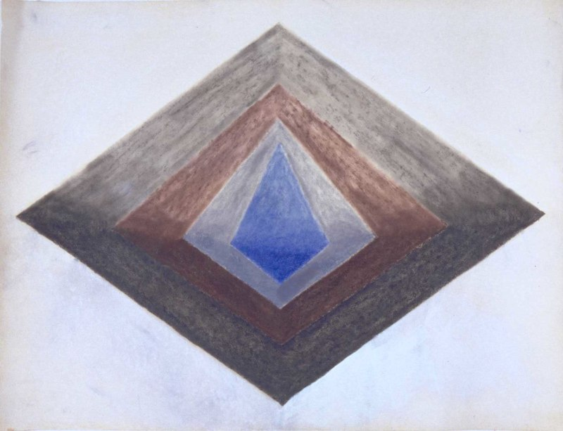 II, 1968-69, mixed media on paper, 9x12.jpg