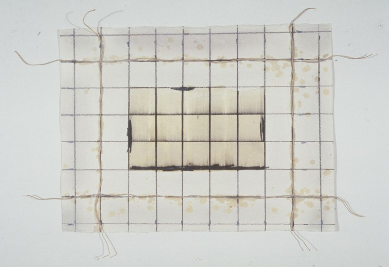 Untitled, 1983, graphite, wax, string on paper, 22x30.jpg