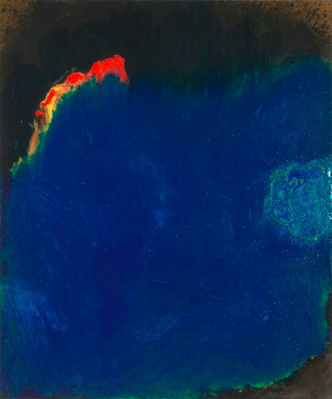Oceanic Series - A Piercing Red Cry, 2003, acrylic on canvas.jpg