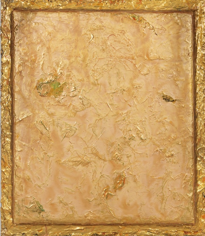 "Turbulence Series - Symphony in Gold, 48"" x 42"", 2015"