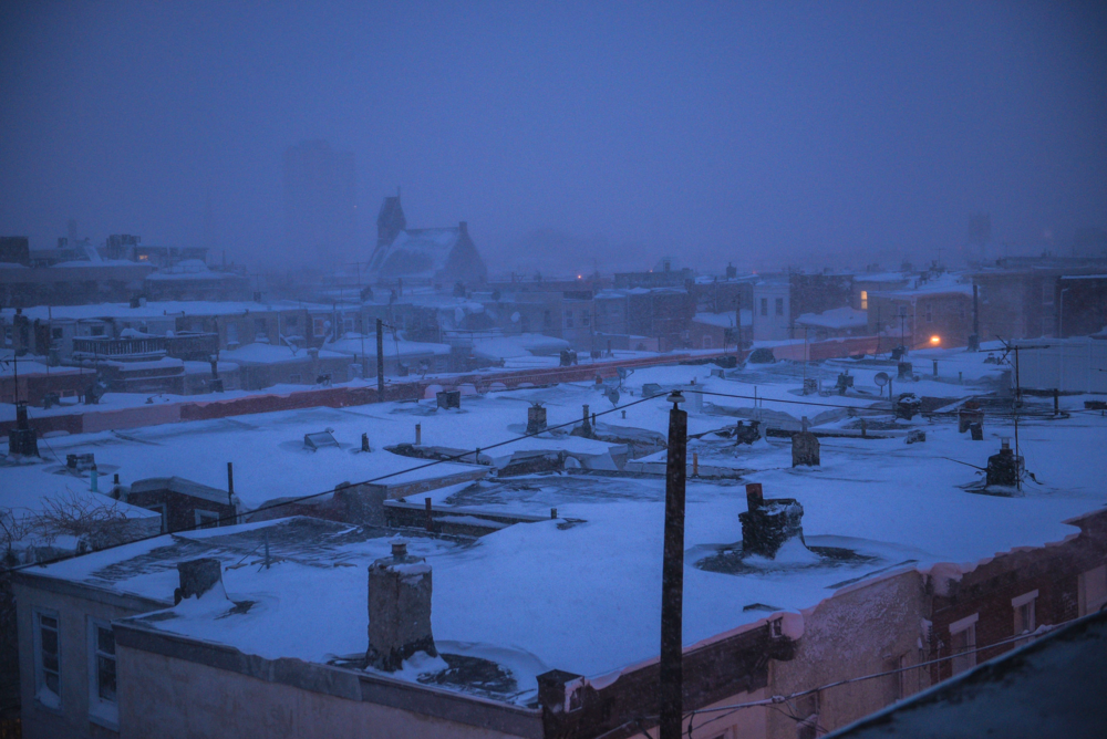 Rooftop view from South Philadelphia.