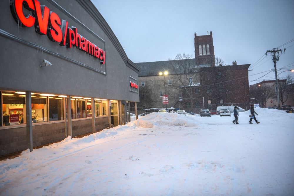 CVS also remained open through the storm. Luckily because of this, I was able to get myself some movie-watching ice cream for later.
