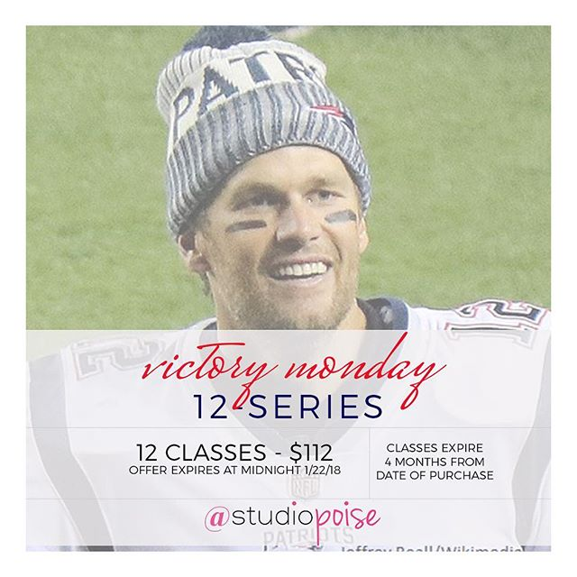 Offer expires TONIGHT!! Let's get after these next 2 weeks! ❤️💙✨ // #victorymonday #patriots #poisenation #bostonfitness #classpassboston #goat