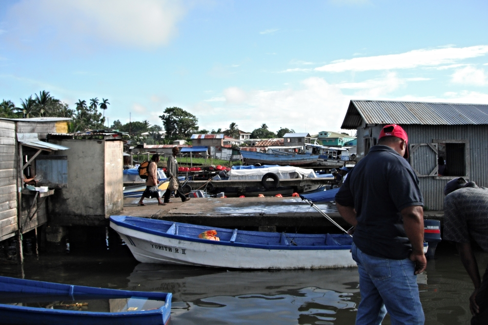 The wharf at Bluefields, regional capital of the RAAS, bustles as Costeno fishermen bring in their catch for sale.