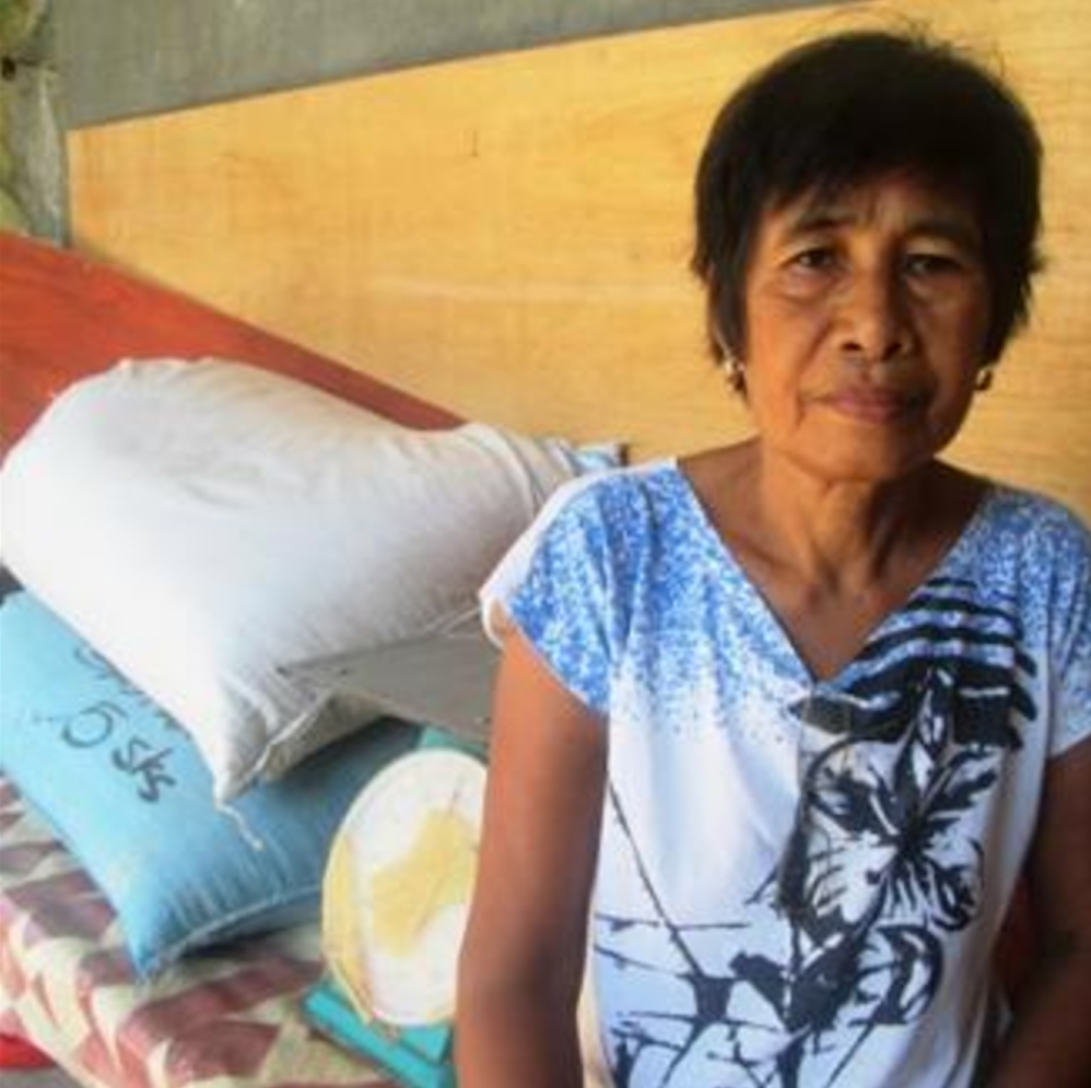 Philippines:   A loan of $550 helps Vilma purchase sacks of rice seed, fertilizers and other farm supplies.