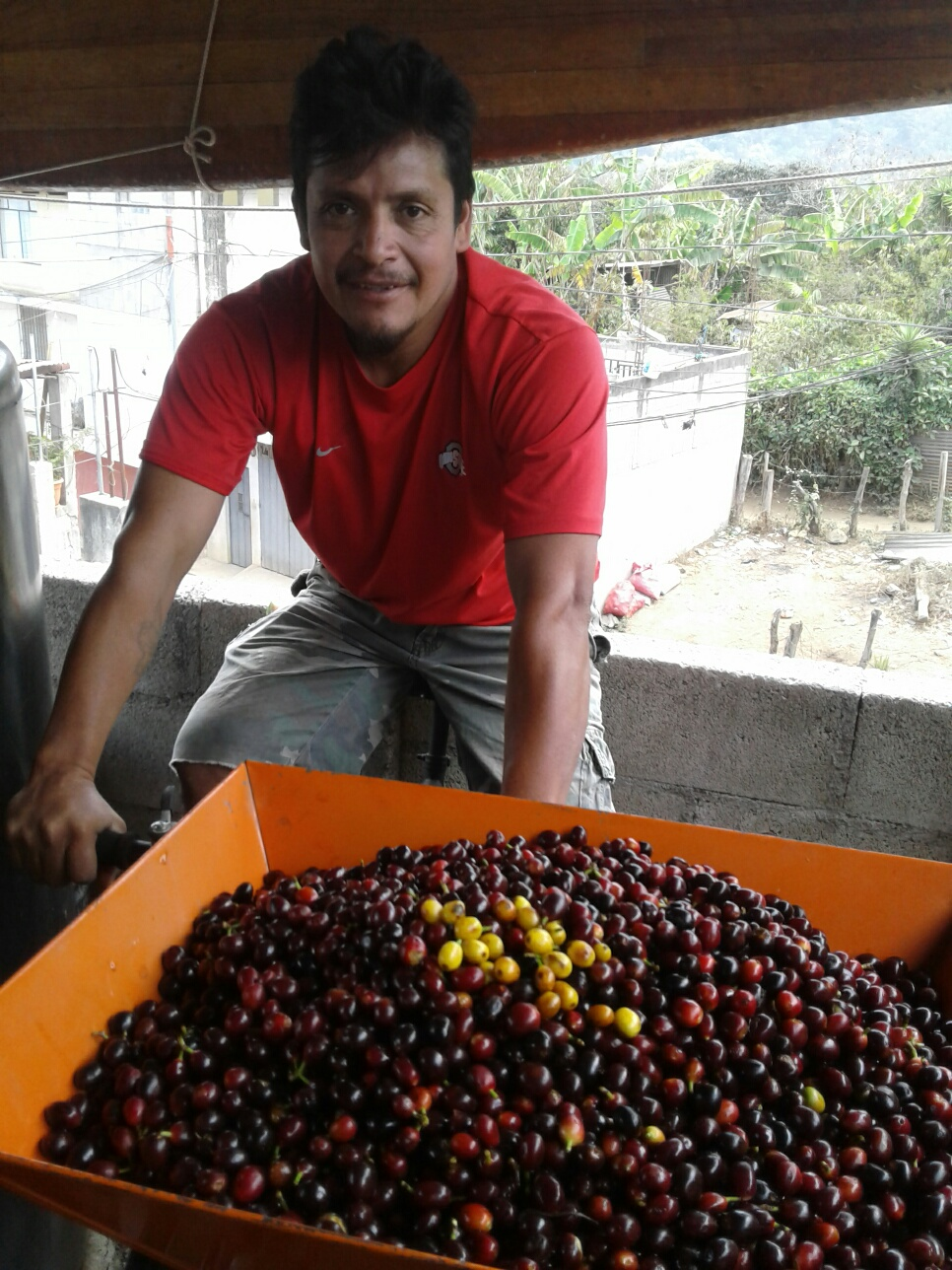 Pictured: Victor using a pulpero he was able to acquire with the funds from his Spartan Global microloan.
