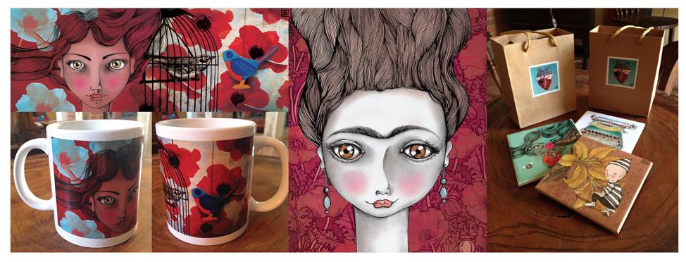Examples of Elvira's artwork.