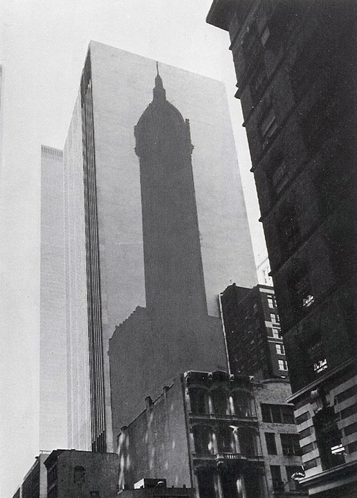 Proposal for Shadow of the Singer Building Where It Stood on Lower Broadway New York, NY. (1975)