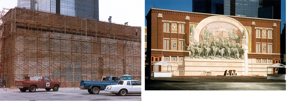Homage to Chisholm Trail, Sundance Square Fort Worth, TX. (1985)