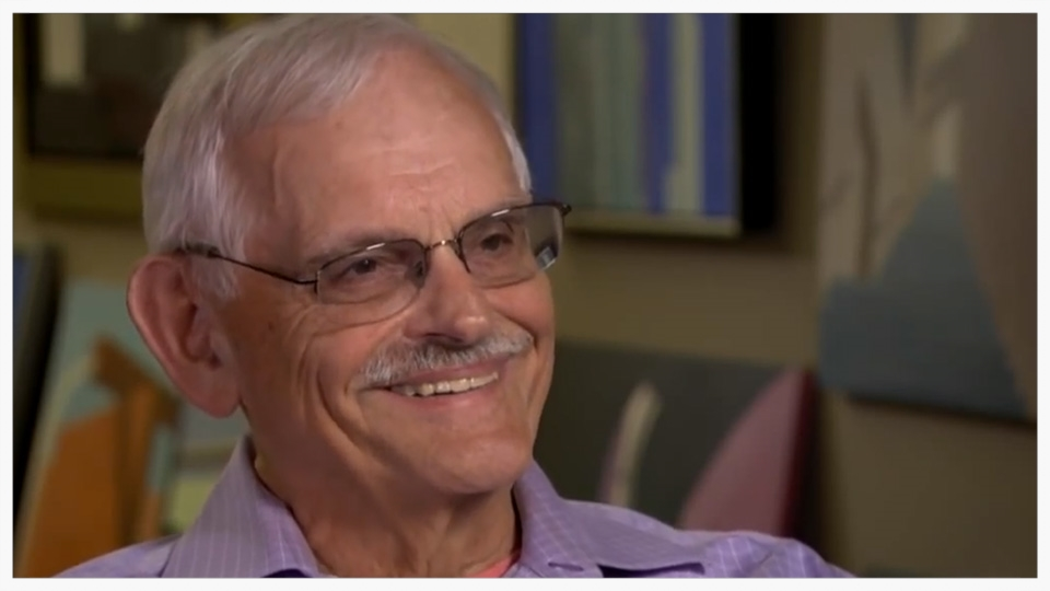 Richard Haas in his studio with CBS Sunday Morning. January, 2014.