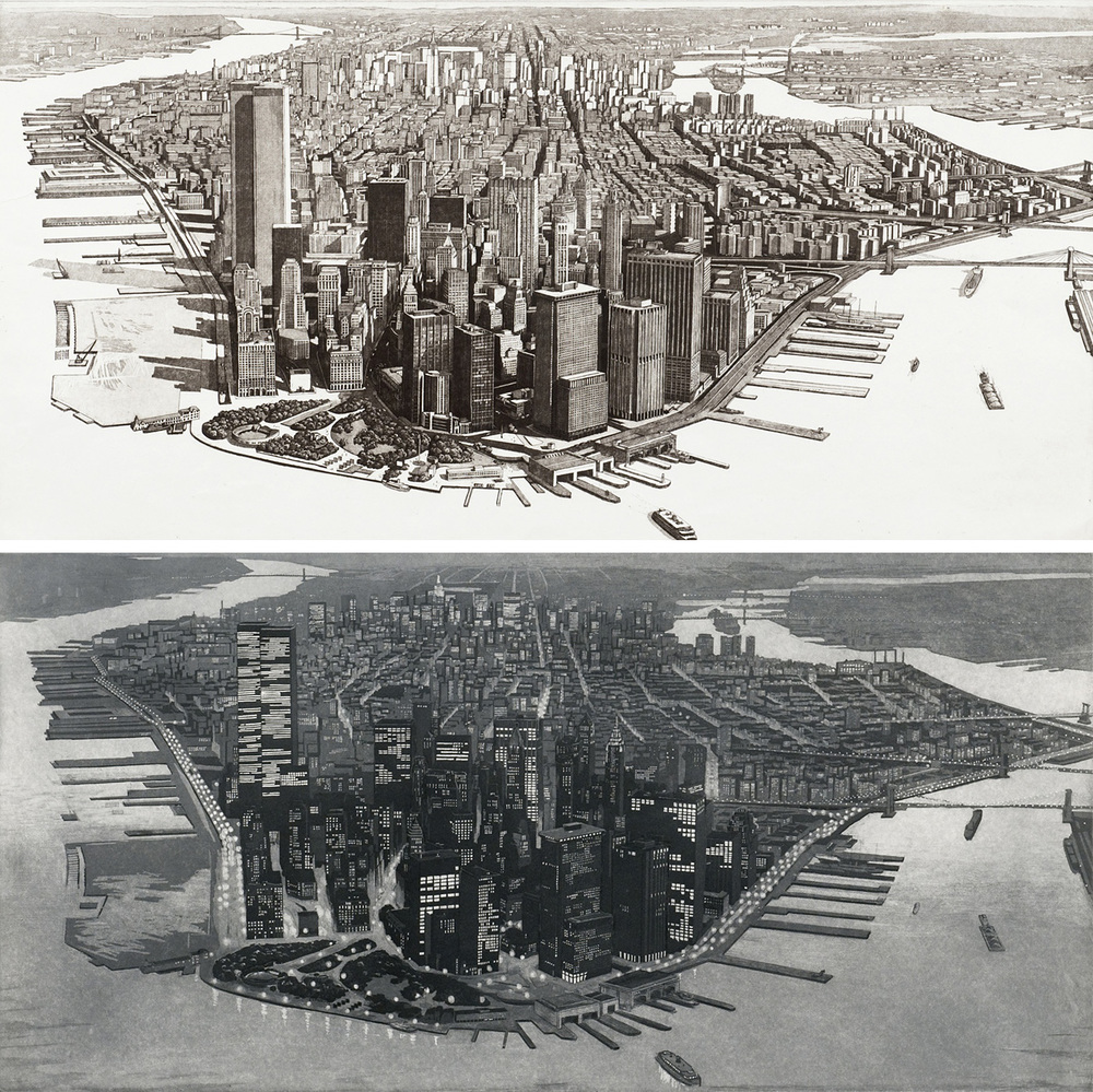 Manhattan View, Battery Park Day And Night (1980)