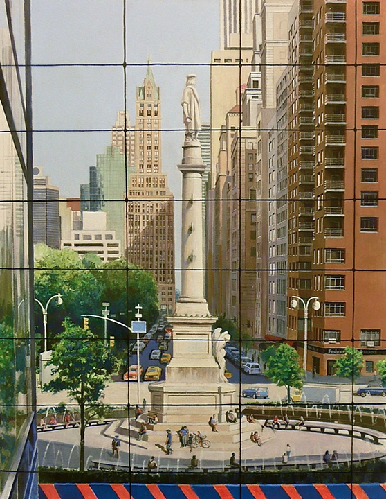 View of Columbus Circle from TimeWarner (2008)