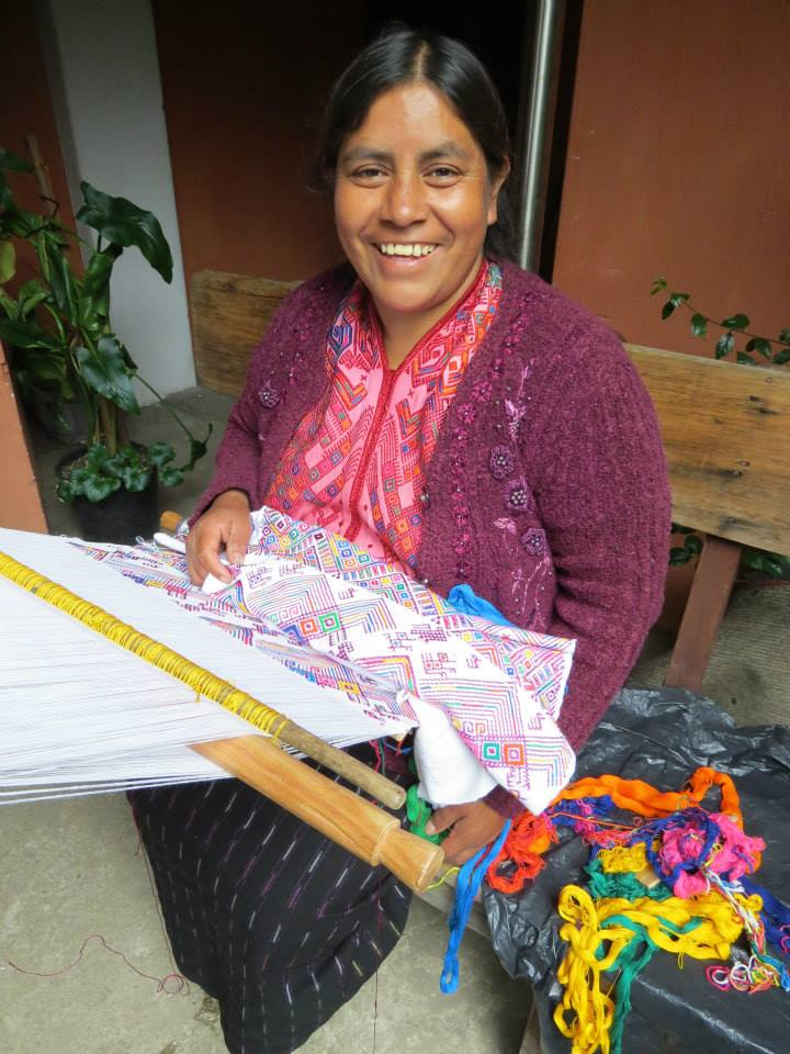 Textile artist Maria created some of our Guatemalan fabric pieces.