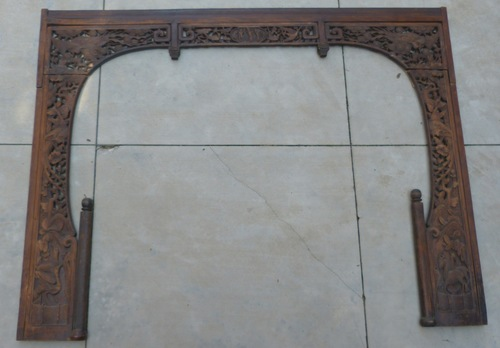 Antique Chinese Entry Door Archway - Antique Chinese Entry Door Archway — Graber Found