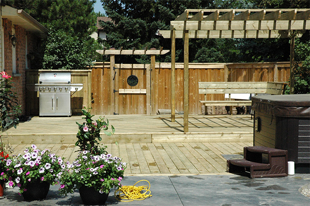 We can build your deck oasis in Milton, just like this GTA deck that Burloak built.