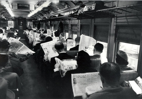 Being antisocial before cell phones.