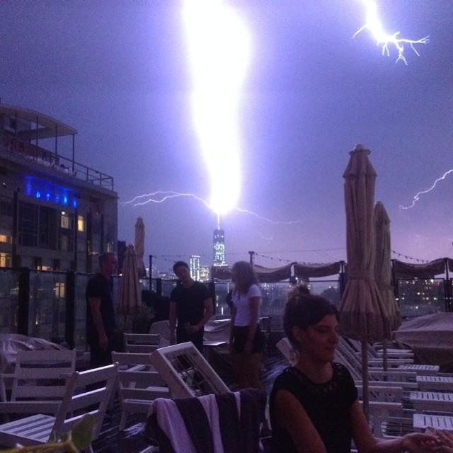 #lightning #strikes the #wtc