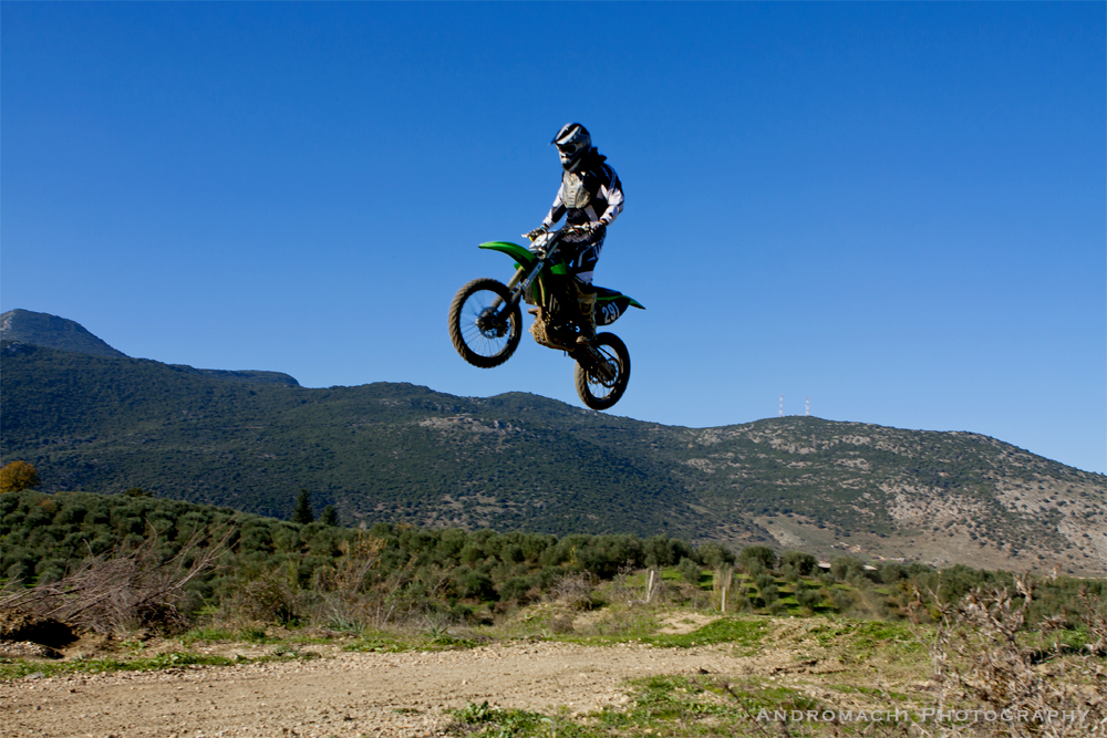 crossing the mountain tops,Oropos area, Preveza, Greece