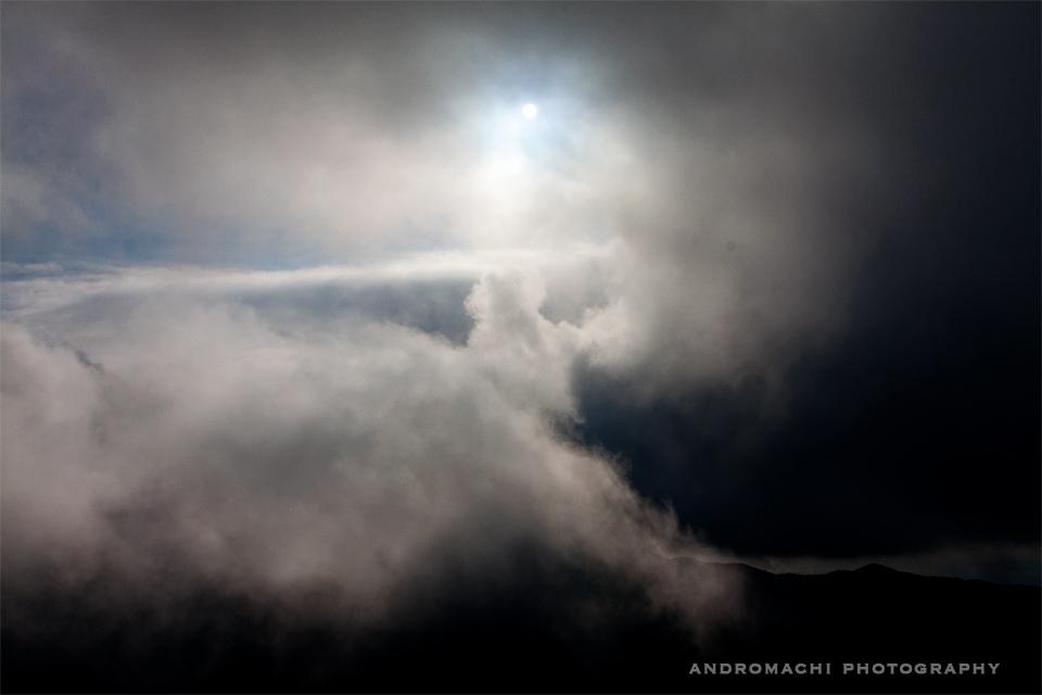Into the clouds at Ai Lias church