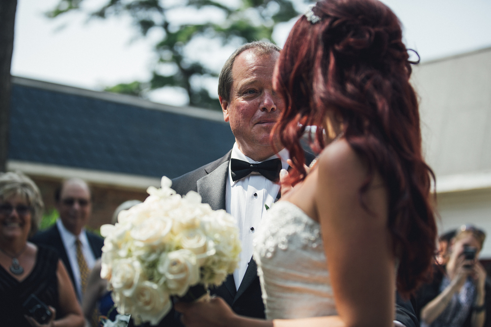Bride last look