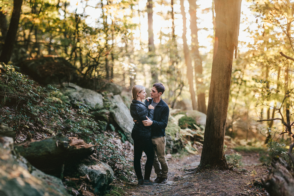 Mohonk mountain engagement photography