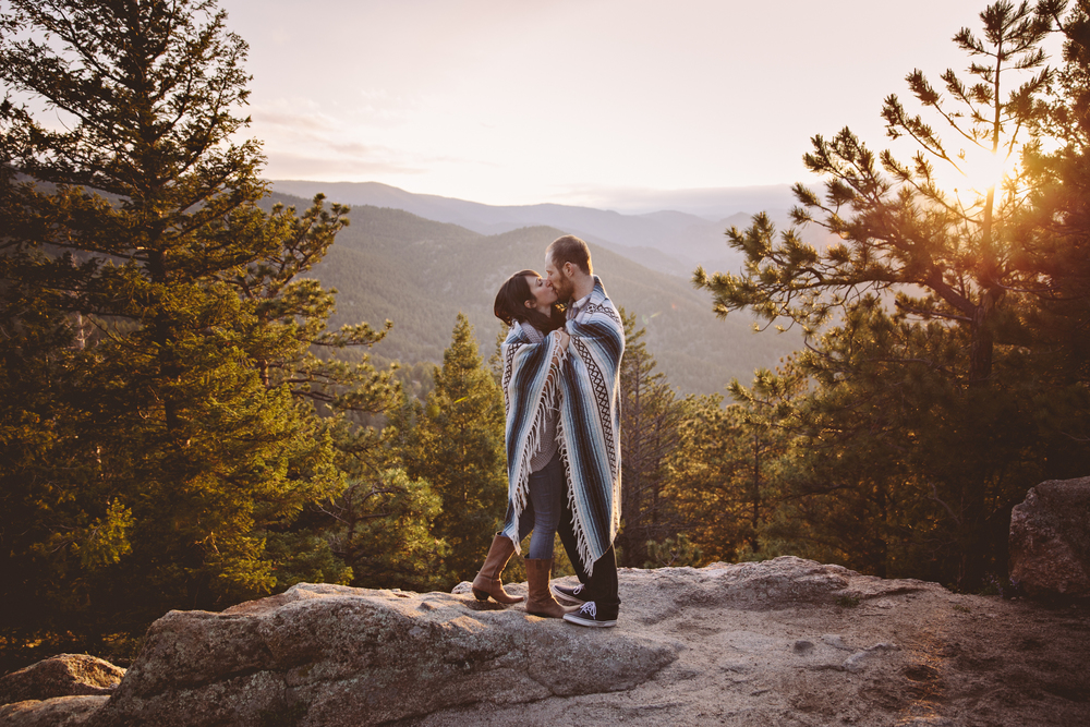 boulder colorado engagement session