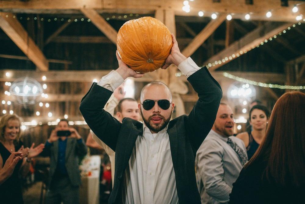 crazy george weird barn wedding