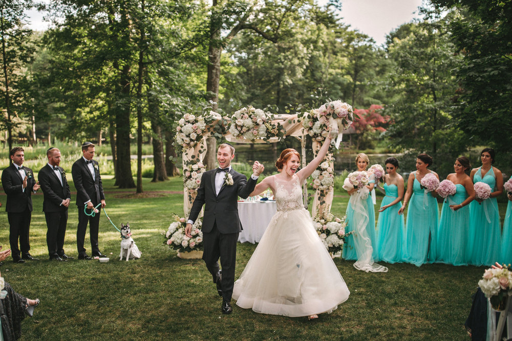 Pleasantdale chateau outdoor ceremony