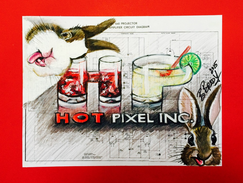 Hot Pixel Post Bunny Logo