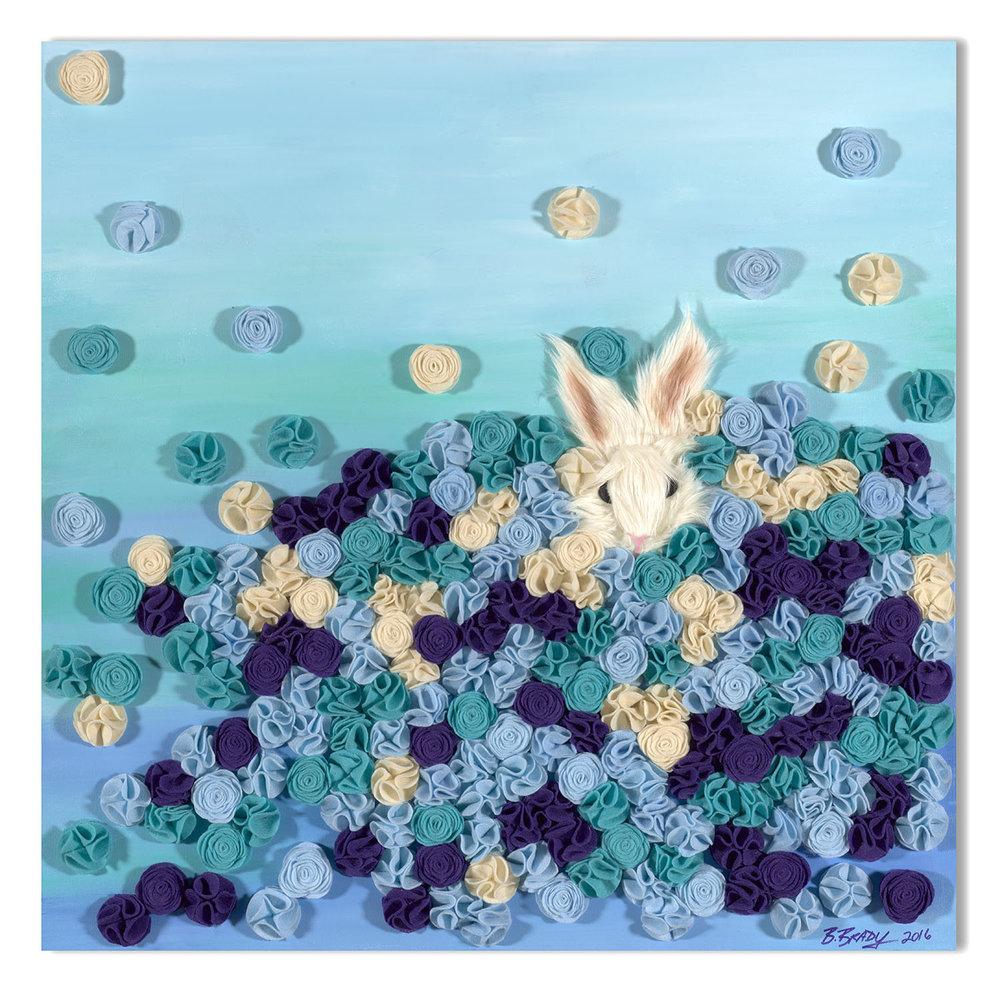 Fuzzy Bunny in Blue