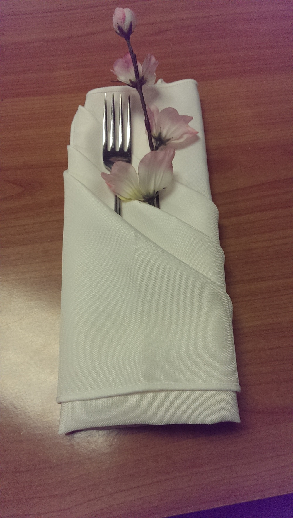 Flip the napkin over and add whatever you want in the pockets. Make it your own style and have fun with it!