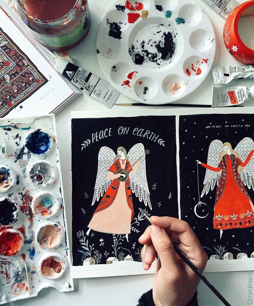 Dinara Mirtalipova Holiday Cards 2016