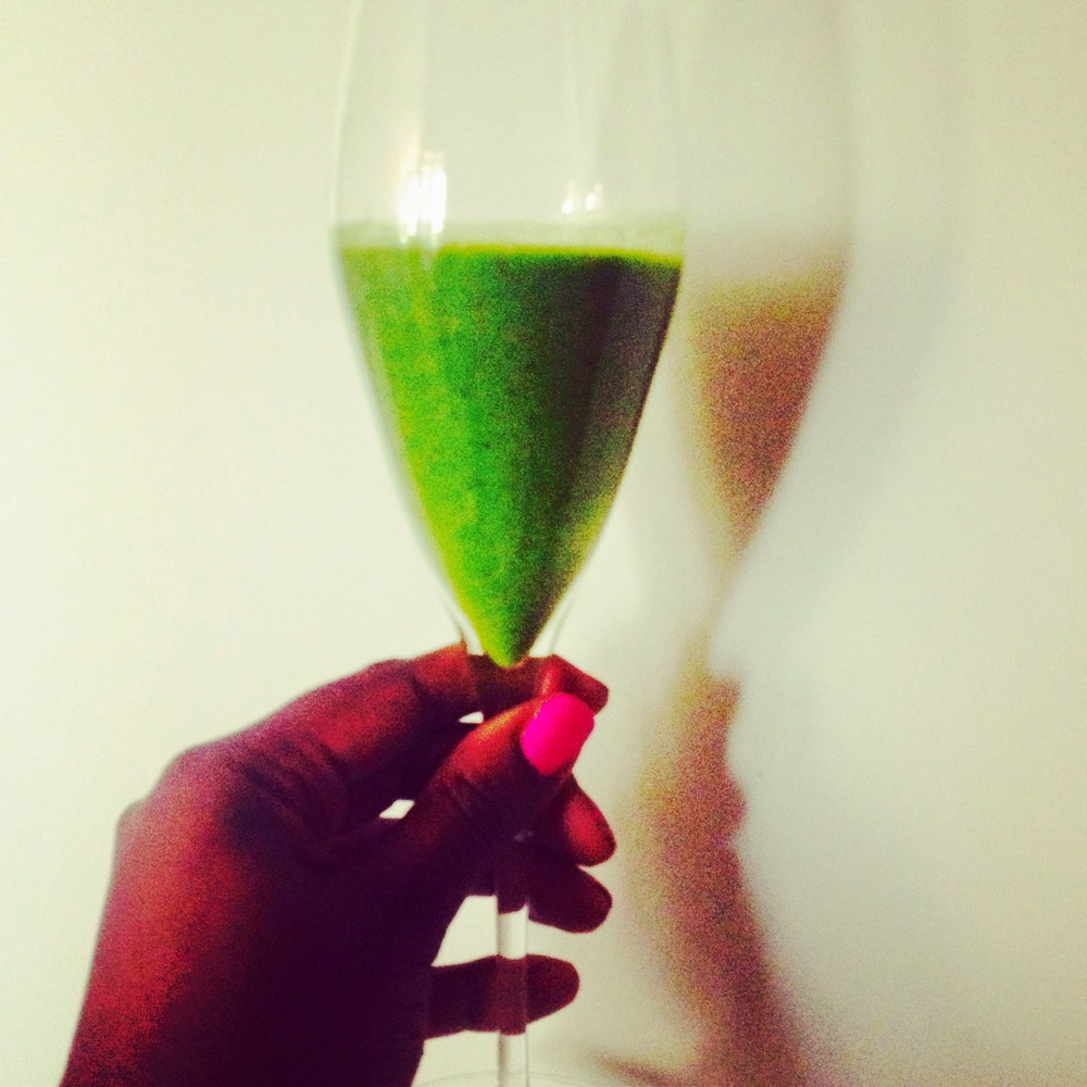"My ""champagne breakfast"" smoothie from my last cleanse with Andrea!"