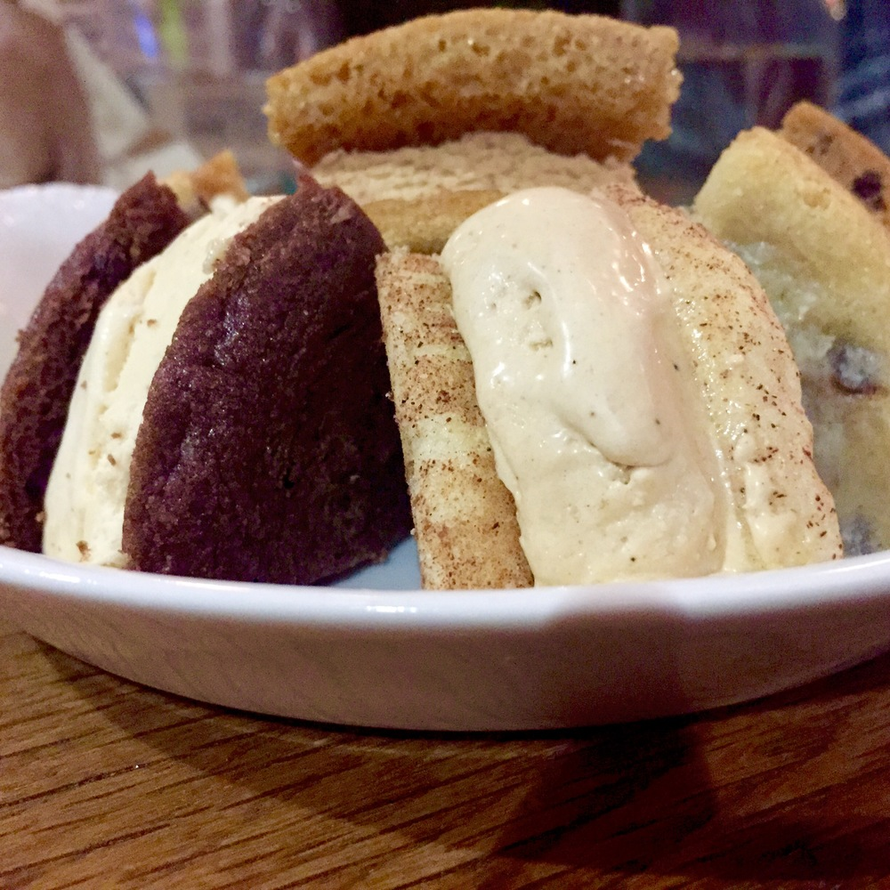 The big finish... ice cream sandwiches stuffed with Greg's ice cream.