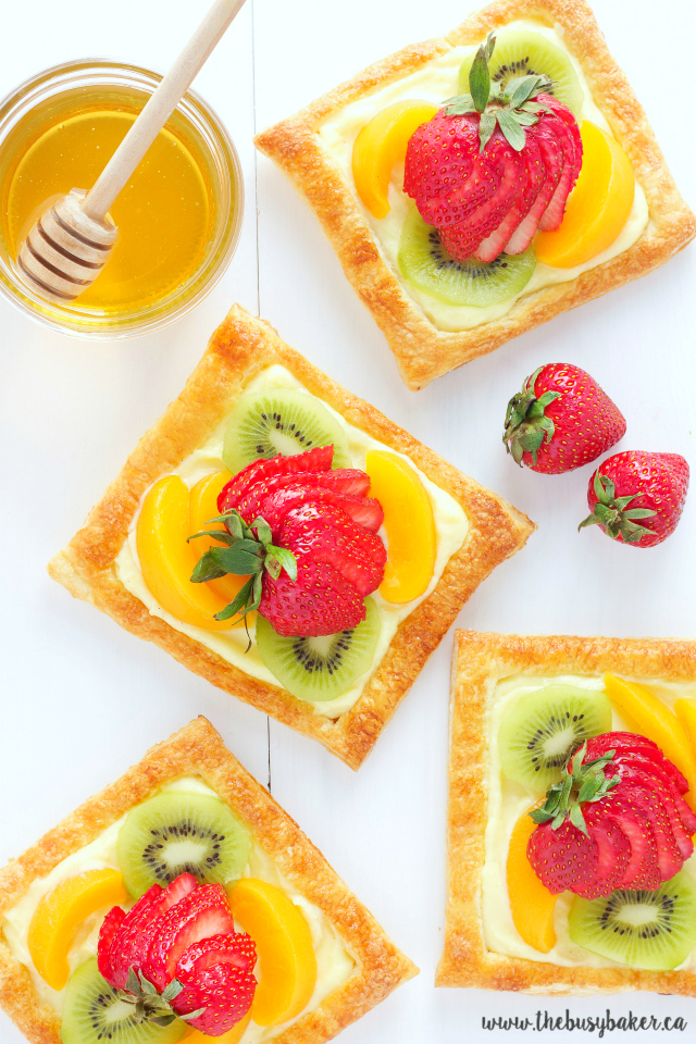 Honey Glazed Fruit Tart with Vanilla Custard from the Busy Baker.
