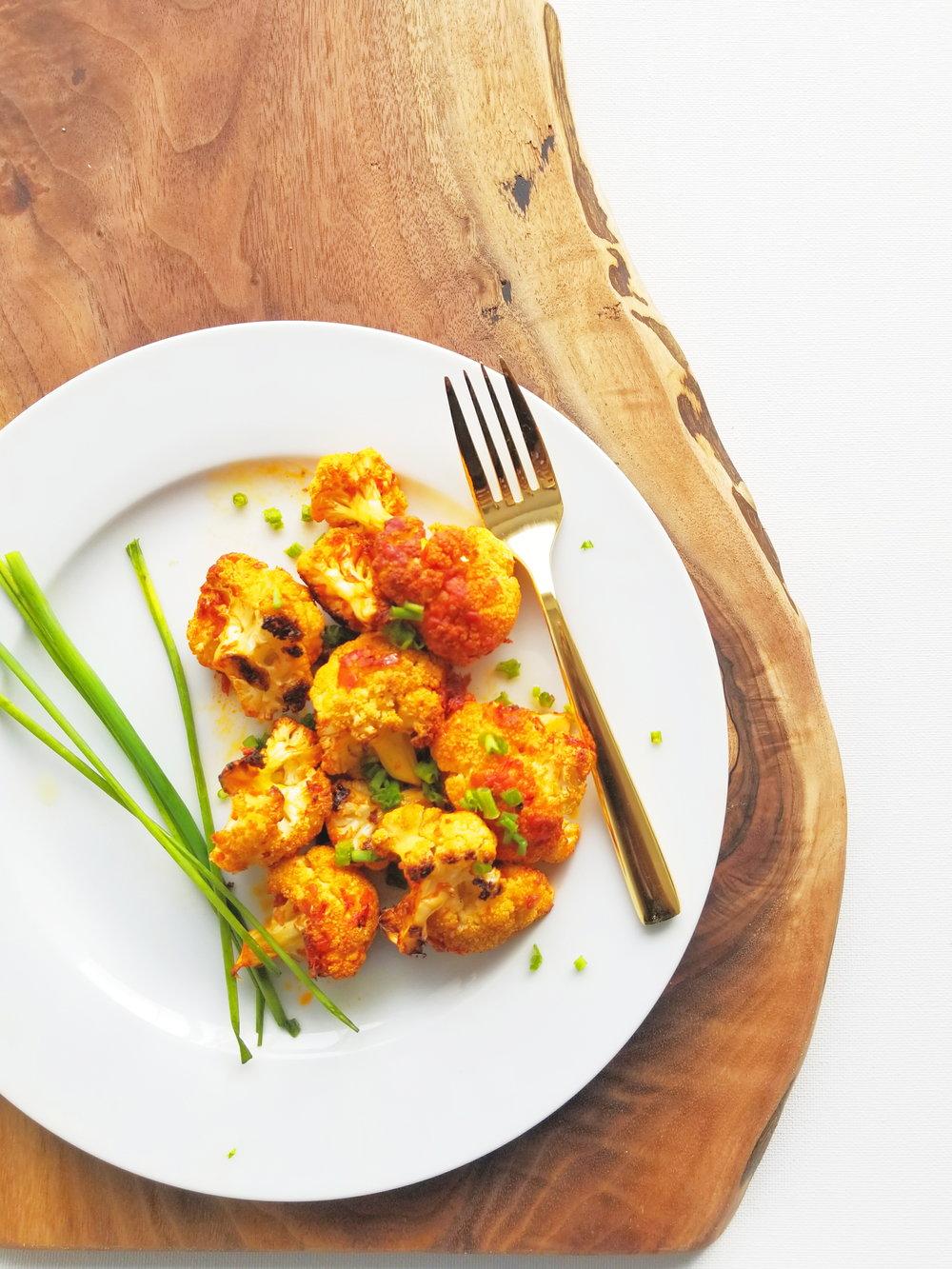 Harissa Cauliflower Bites