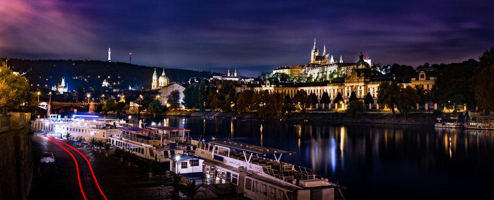 Prague Night landscape