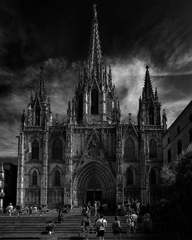 Loved my time in #barcelona beautiful city and fantastic #architecture  #blackandwhite #photography #travel #spain