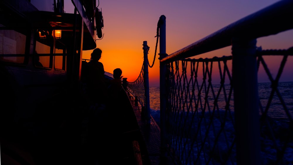 Sunset on a boat!