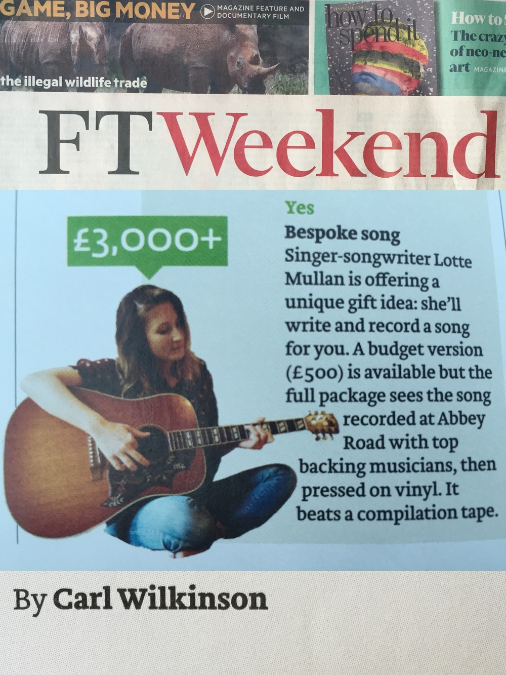 The FT enjoying our Abbey Road deluxe package