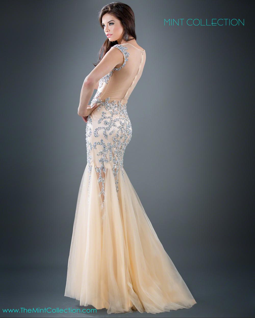 Jovani Silver Dress