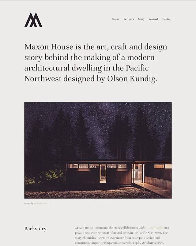 Our friends over @maxonhaus have done a refresh on thier website-telling the story behind the making of a modern architectural dwelling. Designed by @olsonkundig. Check it out!